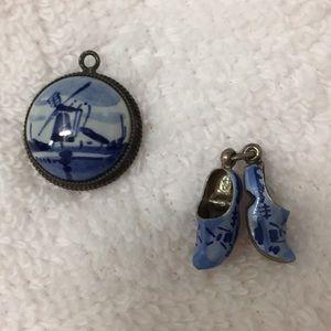 Jewelry - Dutch pendant & Dutch shoes pendant.